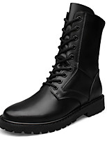 Men's Boots Motorcycle Boots Combat Boots Snow Boots Fashion Boots Winter Real Leather Cowhide Casual Office & Career Outdoor Lace-up