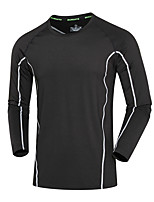 Men's Women's Running T-Shirt Long Sleeves Quick Dry Running Sweatshirt Top for Running/Jogging Exercise & Fitness Loose Black