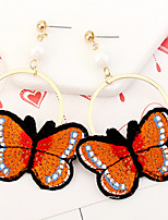 Drop Earrings Women's Euramerican Personalized Embroidery Butterfly r for Daily Party  Gift Movie Jewelry