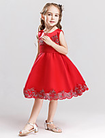 Girl's Embroidered Dress,Cotton Polyester Summer Sleeveless