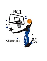 Basketball Player NO.1 Champion Quote Wall Stickers PVC Colorful Sports Wall Decals Star Basket Sticker Home Decor For Boys Kids Room
