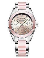 Mulheres Relógio de Moda Relógio de Pulso Bracele Relógio Único Criativo relógio Relógio Casual Chinês Quartzo Impermeável Aço Inoxidável