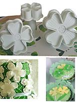 4 pezzi Strumenti Cookie per la torta Plastica Strumento di cottura Ecologico