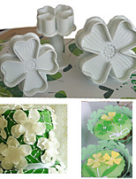 3 PCS Clovers Spring Embossed Printing Mold Turn Sugar Sugar Cookies Seal DIY Baking Mould
