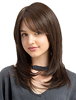Elegant Oblique fringe Natural Long Straight Hair Synthetic Wig