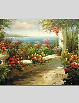 Oil Paintings Landscape Style Canvas Material With Wooden Stretcher Ready To Hang Size 60*90 CM .