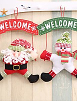 1 Piece Christmas Decorations/Christmas doors Signs Hanging/Merry Christmas And Welcome To The Garlands
