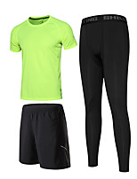 Men's Tracksuit Moisture Wicking Quick Dry Running Shorts for Running/Jogging Exercise & Fitness Basketball Tight Black/Green