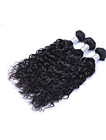 Most Affordable 3 Pcs 300g Brazilian Virgin Human Hair Wefts Tangle Free 100% Unprocessed 1B# Natural Black Wave Human Hair Weaves/Extensions
