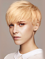 Enchanting  Oblique Fringe Short Straight Human Hair Wigs For Woman