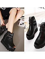 Women's Heels Comfort Basic Pump Spring Summer Real Leather PU Casual Black Flat