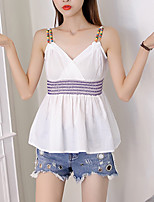 Women's Going out Casual/Daily Sexy Summer Fall Tank Top,Solid Strap Sleeveless Polyester Medium