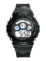 Kid's Sport Watch Fashion Watch Digital Water Resistant / Water Proof Rubber Band Black