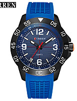 Women's Men's Curren Commercial Rubber Band Large Dial Calendar Quartz Watch