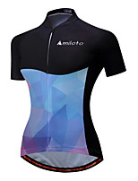 Cycling Jersey Ladies' Female Short Sleeve Bike Jersey Reflective Strip Fast Dry Stretchy Spandex Polyester Spring/Fall Summer Cycling