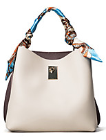 Women Shoulder Bag PU All Seasons Casual Baguette Magnetic Beige Orange