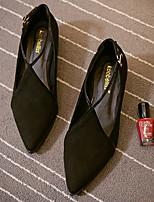Для женщин Мокасины и Свитер Удобная обувь Натуральная кожа Весна Повседневные Удобная обувь Черный Серый Менее 2,5 см