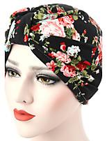 Для женщин Шапки Цветы Широкополая шляпа,Весна/осень Лето Хлопок Однотонный Разные цвета