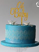 Украшения для торта Монограмма День рождения Пластмассовая сумка