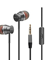 kdk303 In Ear Wired Headphones Dynamic Plastic Mobile Phone Earphone Stereo with Microphone with Volume Control Headset