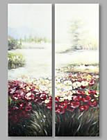 Peint à la main Abstrait Abstrait Moderne Deux Panneaux Toile Peinture à l'huile Hang-peint For Décoration d'intérieur