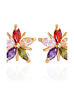 Diamond Stud Earrings Clip Earrings Earrings Set Earrings Jewelry Wedding Party Halloween Daily Casual Sports Zircon Copper 1 pair