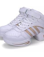 Для женщин Танцевальные кроссовки Полиуретан На каблуках Для открытой площадки На толстом каблуке Белый Черный Более 10 см