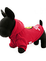 Dog Hoodie Dog Clothes Casual/Daily Cartoon Ruby Yellow