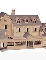 Kit Faça Você Mesmo Quebra-Cabeças 3D Quebra-Cabeça Quebra-Cabeças de Madeira Brinquedos Construções Famosas Casa Arquitetura Outra 3D