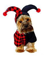 Dog Costume Dog Clothes Halloween Christmas Geometric Black
