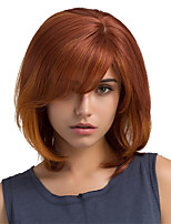Hot Sale Ombre Color Oblique Bangs Bob Hairstyle Human Hair Wigs