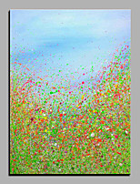 Hand-Painted Abstract Vertical,Modern One Panel Oil Painting For Home Decoration