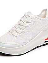 Women's Athletic Shoes Comfort Rubber Summer Outdoor Walking Comfort Buckle Block Heel White Under 1in