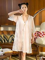 Women's Satin & Silk Nightwear Solid-Thin