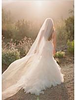 Hochzeitsschleier Einschichtig Kapellen Schleier Schnittkante Tüll