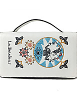 Women Shoulder Bag PU All Seasons Casual Flap Magnetic Black White