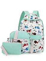 Women Backpack Canvas All Seasons Casual Bucket Zipper Light Blue gream white Amethyst Black Green