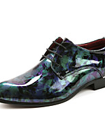 Men's Oxfords / Comfort / Pointed Toe Cowhide / Nappa Leather Wedding / Office & Career / Casual Low Heel Blue / Red