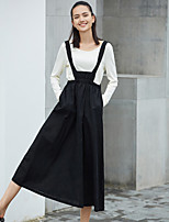 AMII REDEFINEWomen's Going out Casual/Daily Midi Skirts A Line Loose Solid Summer