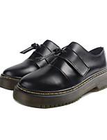 Damen Loafers & Slip-Ons Komfort Leder Frühling Normal Komfort Weiß Schwarz Flach