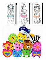 Lovely PVC Pen Bag With Cartoon Animal Eraser Stationery Set(1pc Bag Color Choose1pc Eraser Color Random)