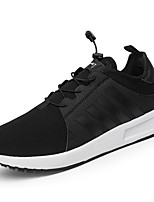 Men's Sneakers Comfort Spring Fall PU Outdoor Black Blue Flat