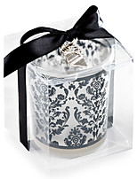 Damask Glass Tealight Candle Holder