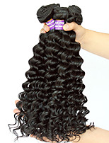 Natural Color Hair Weaves Mongolian Texture Deep Wave 12 Months Three-piece Suit hair weaves
