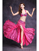 Shall We Belly Dance Outfits Women's Performance Spandex Split Front