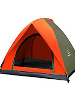 2 persons Travel Bag Fold Tent Camping Tent 1000-1500 mm Stretch Satin Keep Warm-Camping / Hiking-