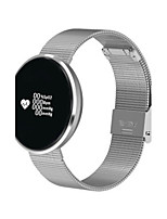 Men's Fashion Watch Digital Stainless Steel Band Black Silver