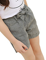 Girls' Plaid/Check Shorts-Cotton Autumn/Fall Summer