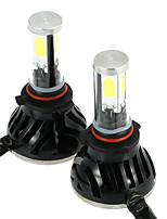 KKmoon One Pair of 40W 4000LM 9005/H10 COB LED Light Headlight Fog Light 12V 24V Car Upgrade Conversion Bulb Beam Kit 6000K White