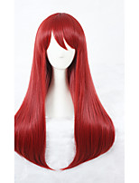 Scum's Wish Sanae Ebato Cosplay Wig 26inch Long Straight Red Wig Synthetic Anime Cosplay Hair Wig 323B